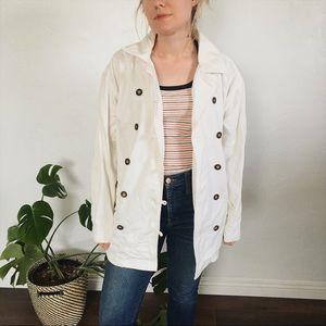 Vintage white chore coat